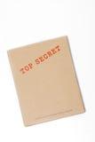 Streng geheim Kasten Stockfotografie