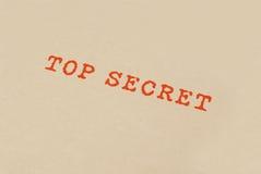 Streng geheim Kasten Lizenzfreies Stockbild