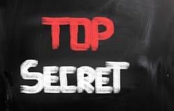 Streng geheim Konzept stockfotos