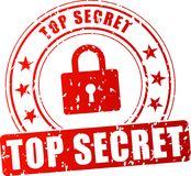Streng geheim roter Stempel Lizenzfreie Stockfotografie