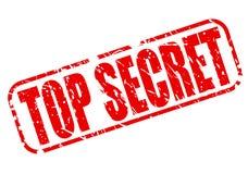 Streng geheim roter Stempeltext Stockfotos