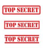 Streng geheim Satz Stockbilder