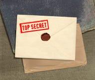 Streng geheim Umschlag Lizenzfreie Stockfotos