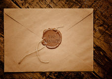 Streng geheim Umschlag mit Stempel lizenzfreie stockfotos
