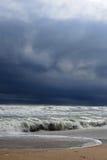 Streng onweer op zee Royalty-vrije Stock Foto