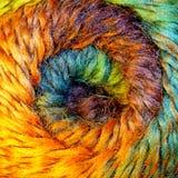 Streng van wolgaren Het macro ontspruiten Textuur van golvende draad Concept energie De ambachten van de hobbysvrije tijd royalty-vrije stock foto