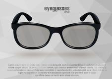 Strenge Brillen in Schwarzweiss Stockfotografie