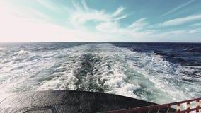 Strenge Golf van Veerboot HD stock footage