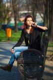 Strenge Jonge Vrouw royalty-vrije stock afbeelding