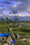 Strenge schade van aardbeving en vloeibaarmaking royalty-vrije stock afbeeldingen
