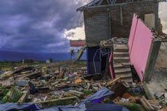 Strenge schade van aardbeving en vloeibaarmaking royalty-vrije stock foto
