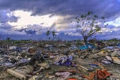 Strenge schade van aardbeving en vloeibaarmaking royalty-vrije stock afbeelding