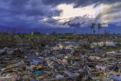 Strenge schade van aardbeving en vloeibaarmaking royalty-vrije stock fotografie