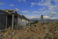 Strenge schade van aardbeving en vloeibaarmakings natuurrampen royalty-vrije stock fotografie