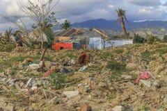 Strenge schade van aardbeving en vloeibaarmakings natuurrampen royalty-vrije stock afbeelding