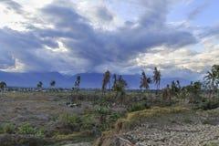 Strenge schade van aardbeving en vloeibaarmakings natuurrampen royalty-vrije stock afbeeldingen