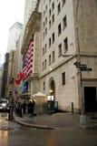 Strenge Sicherheitsmaßnahmen auf Wall Street Lizenzfreies Stockbild