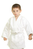 Strenger Karatejunge stockbilder