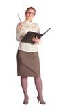 Strenger Lehrer mit Kategorienbuch Lizenzfreies Stockbild