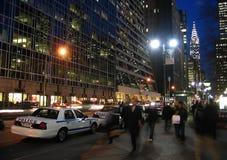Strenger Sicherheitsmaßnahmen auf New- Yorkstraße Stockfotografie