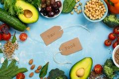 strenger Vegetarier oder rohe Lebensmitteldiät Stockfotografie