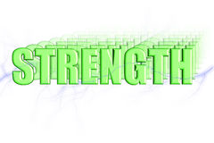 Strength 3D. Strength Illustration 3-D Royalty Free Stock Photography