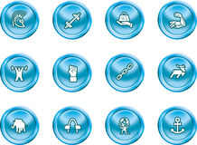 Strength Concept Icon Set Royalty Free Stock Photo