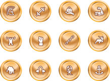 Strength Concept Icon Set. A conceptual icon set relating to strength Stock Image