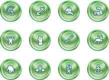 Strength Concept Icon Set Stock Images