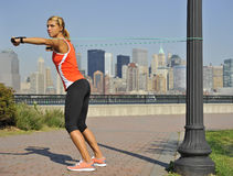 Strength Exercise in Urban Park Stock Image