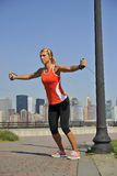 Strength Exercise in Urban Park Royalty Free Stock Images