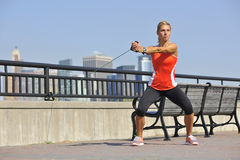 Strength Exercise in Urban Park Stock Photography