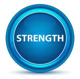 Strength Eyeball Blue Round Button. Strength Isolated on Eyeball Blue Round Button royalty free illustration