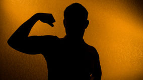 Strength and health - silhouette of man Stock Photos