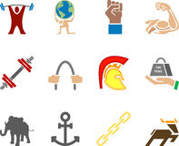 Strength Icon Set Series Design Elements Royalty Free Stock Photography