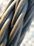 Strength in Numbers III. Macro of 1 inch steel cable Royalty Free Stock Photo
