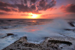 The strength of the ocean. Cascais coast,cabo raso ,Portugal Royalty Free Stock Images