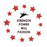 Strength Power Will Passion Royalty Free Stock Images