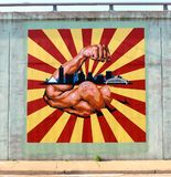 The Strength of Raleigh and Frayser Mural On A Bridge Underpass Royalty Free Stock Images