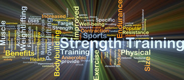 Strength training background concept glowing Stock Photo