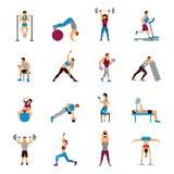 Strength Training Workout Set Stock Image
