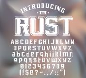 Strength typeface RUST Stock Images