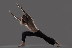 Strength variation of Extended Side Angle Pose Royalty Free Stock Image