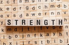 Strength word concept stock photo