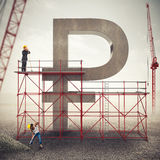Strengthen ruble economy . 3D Rendering stock photos