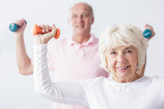 Strengthening the muscles Stock Photos