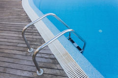 Strengthening and stair to enter the pool. Royalty Free Stock Image
