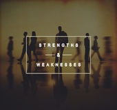 Strengths and Weaknesses SWOT Opportunities Threats Concept Royalty Free Stock Photography