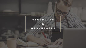 Strengths and Weaknesses SWOT Opportunities Threats Concept.  Royalty Free Stock Photography