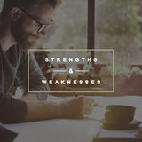 Strengths and Weaknesses SWOT Opportunities Threats Concept. Strengths and Weaknesses SWOT Opportunities Threats Royalty Free Stock Photography